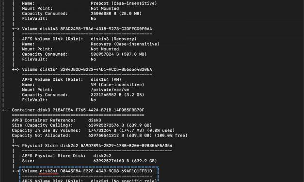 macOS 10.14 모하비 – 디스크 조각 모음 활성화